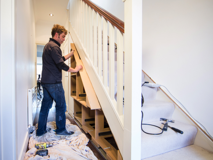 Installation of an Under Stair Storage Flat Pack Unit