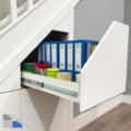 Under Stair Storage for Your Home Office Supplies