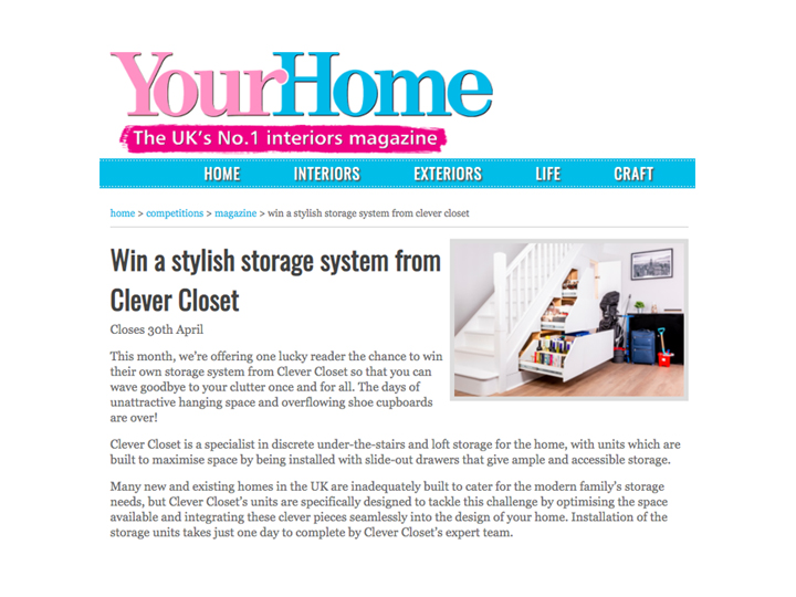 YourHome Magazine | Competition for a Clever Closet Unit