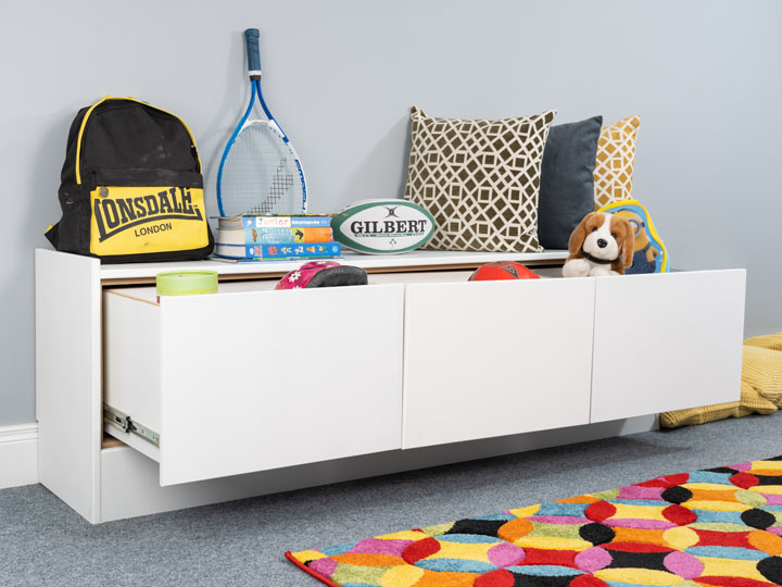 Storage Bench for those awkward spaces throughout the home