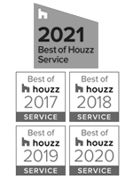 Houzz Award for Service 2017 - 2021